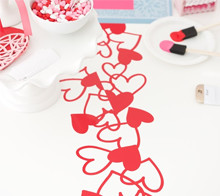 Valentine crafting party table runner